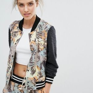 Sol Angeles | Tropical Camo Knit Bomber Jacket